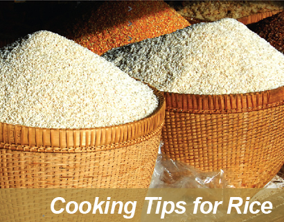 Cooking Tips for rice